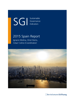 2015 Spain Country Report | SGI Sustainable Governance Indicators