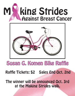 Against Breast Cancer Susan G. Komen Bike Raffle