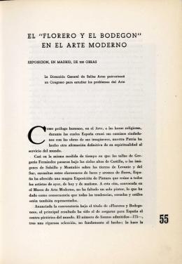 """EL """"FLORERO Y EL BODEGON"""" EN EL ARTE MODERNO"""
