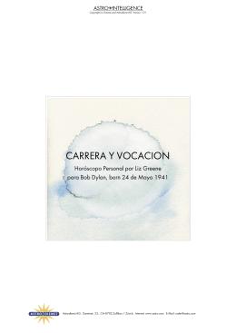CARRERA Y VOCACION