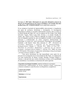 XATARA, C. 2013 (dir.): Dicionário de expressões idiomáticas