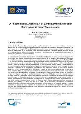 LA RECEPCIÓN DE LA OBRA DE J.