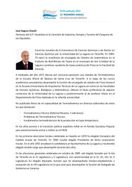 José Segura Clavell Portavoz del G.P. Socialista en la Comisión de