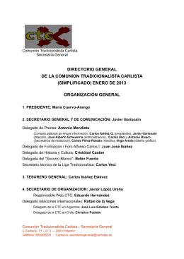 (simplificado) enero de 2013 organización general