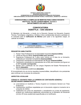 convocatoria dgesttla – cdo 202/2014