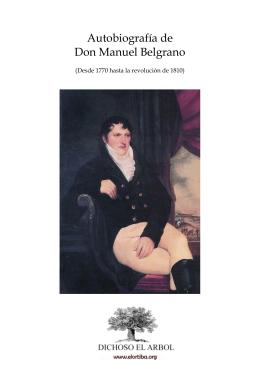 Autobiografía de Don Manuel Belgrano