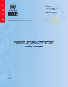 Migración Internacional, Derechos Humanos y Desarrollo en