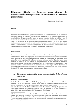 Educación bilingüe en Paraguay como ejemplo de transformación d