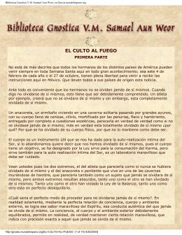 Biblioteca Gnostica V.M. Samael Aun Weor, en Gnosis
