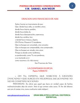 poemas oraciones conjuraciones vm samael aun weor