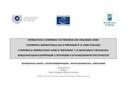 Biographical notes - Conseil de l`Europe