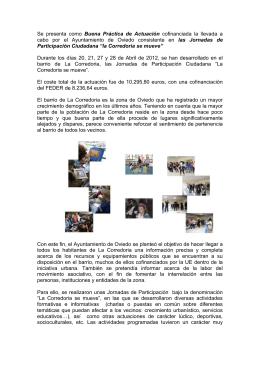 """""""la Corredoria se mueve"""". - Dirección General de Fondos"""