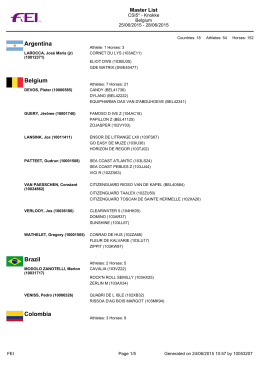 Argentina Belgium Brazil Colombia