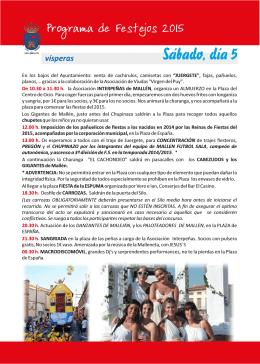 Fiestas del Cristo 2015 - Ayuntamiento de Mallén