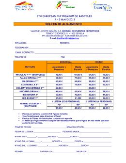 Oferta Hotelera para Banyoles