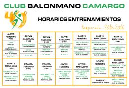 entrenamientos - Club Balonmano Camargo