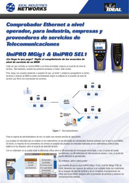 Comprobador Ethernet a nivel operador, para industria, empresas y