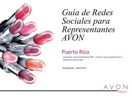 Guía de Redes Sociales para Representantes AVON