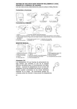 SISTEMA DE VIGILANCIA BABY MONITOR INALÁMBRICO 2.4GHz