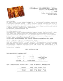 MARAVILLAS RELIGIOSAS DE PUEBLA, CUETZALAN