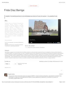 Frida Díaz Barriga - Grupo de Investigación en Docencia, Diseño