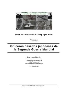 Cruceros pesados japoneses de la Segunda Guerra Mundial