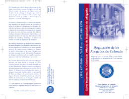 Attorney Regulations (Spanish)