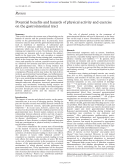 Review Potential benefits and hazards of physical activity and