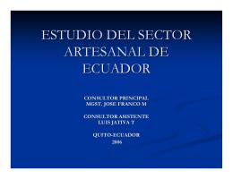 ESTUDIO DEL SECTOR ARTESANAL DE ECUADOR