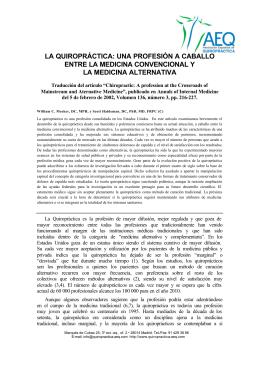 Más información - Asociación Española de Quiropráctica