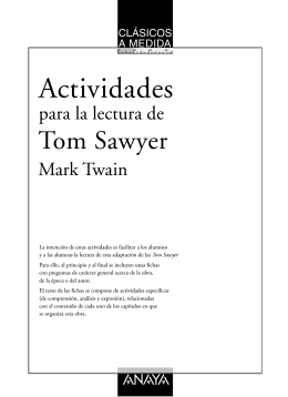 Actividades Tom Sawyer - Anaya Infantil y Juvenil