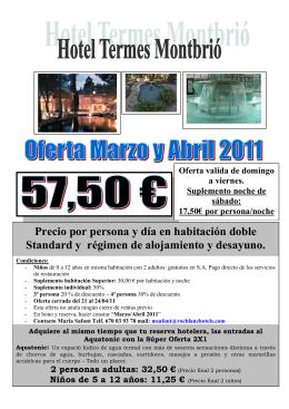 HOTEL TERMES MONTBRIO - CCOO - Gestió de Serveis Sanitaris