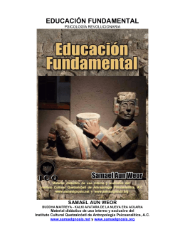 Educación Fundamental - Instituto Cultural Quetzalcoatl