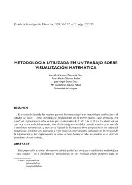 metodología utilizada en un trabajo sobre visualización matemática