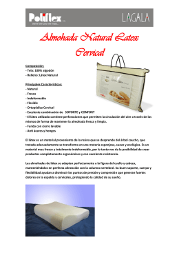 Almohada Natural Latex Cervical