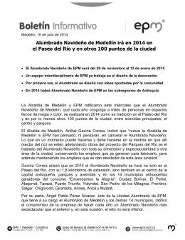 Alumbrado Navideño de Medellín irá en 2014 en el Paseo del Río y