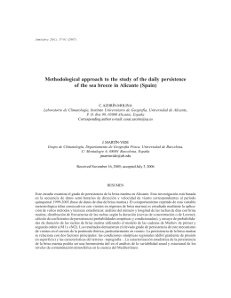 Methodological approach to the study of the daily persistence of the
