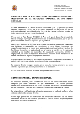 CIRCULAR 07.04/06, DE 9 DE JUNIO, SOBRE CRITERIOS DE