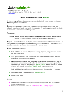 Dieta de la alcachofa con Nahrin