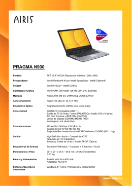 PRAGMA N930 - Airis Support