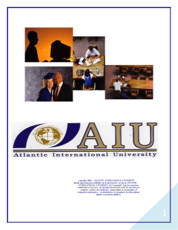 Manual del Programa de Doctorado - Atlantic International University
