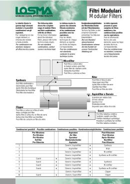 Filtri Modulari Modular Filters