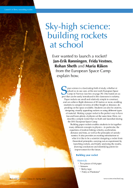 Sky-high science: building rockets at school