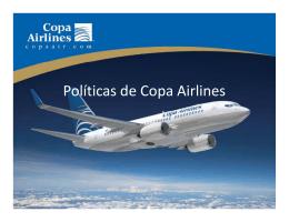 Políticas de Copa Airlines