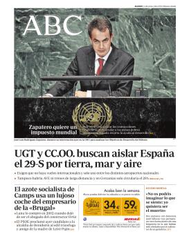 UGT y CC.OO. buscan aislar España el 29-S por tierra