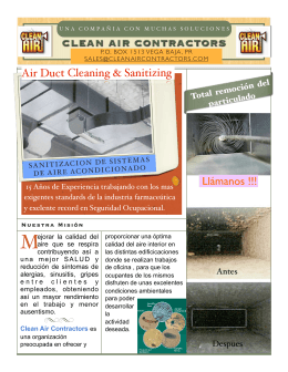 Duct Cleaning Flyer - Clean Air Contractors