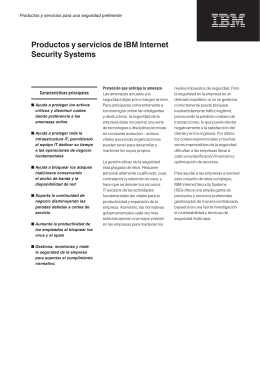 Productos y servicios de IBM Internet Security Systems