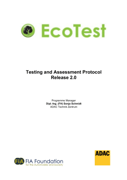Testing and Assessment Protocol Release 2.0