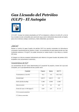 Gas Licuado del Petróleo (GLP) - El Autogás