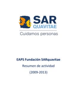 EAPS Fundación SARquavitae Resumen de actividad (2009